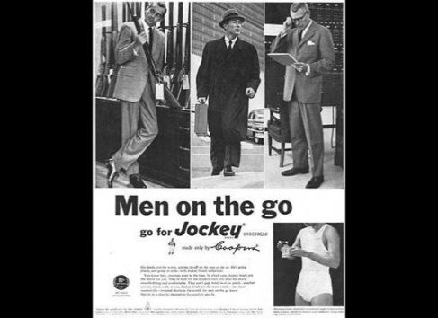 Men on the Go Underwear Ad