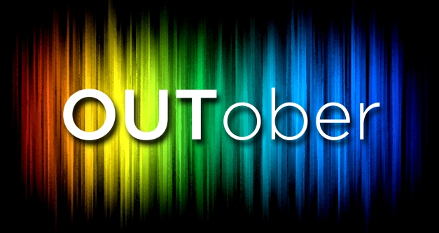 Outober National Coming Out Day Rainbow Graphic